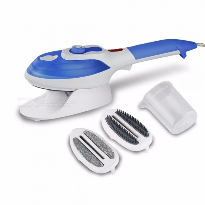 Maikou 800W Hand-held Electric Garment Steamer, Steam Iron w/ Multi-Gear Temperature Adjustment - BlueOther Electronics<br>Form  ColorWhite + Blue + Multi-ColoredModelSJ-2178MaterialABSQuantity1 DX.PCM.Model.AttributeModel.UnitPacking List1 x Electric steam iron2 x Brush heads1 x Glass measuring1 x User manual<br>