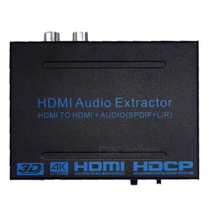 BSTUO HDMI to HDMI Audio Extractor Converter Adapter SPDIF + R/L 4K ARC Audio Extractor - EU PlugLaptop/Tablet Cable&amp;Adapters<br>Form  ColorBlack + EU PlugModelN/AQuantity1 DX.PCM.Model.AttributeModel.UnitShade Of ColorBlackMaterialAluminium alloyInterfaceOthers,HDMI/SPDIFTypeLaptopsCompatible ModelHDMI universialPacking List1 x HDMI Extractor 1 x EU Plug Power Adapter (100-240V)1 x English User Manual<br>
