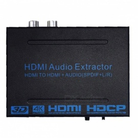 BSTUO HDMI to HDMI Audio Extractor Converter Adapter SPDIF + R/L 4K ARC Audio Extractor - EU Plug