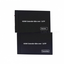 BSTUO 60M HDMI extender 1080p 3D приемник передатчика HDMI cat 5e / 6 RJ45 ethernet converter - US plug
