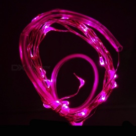 Mini Waterproof LED Wheel Lamp for Bicycle Nocturnal Riding - Pink