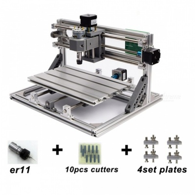 CNC3018 with ER11 DIY Mini CNC Engraving Machine Laser Engraving PCB PVC Milling Machine Wood Router Best Advanced Toys 3018 2500mW add ER11