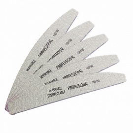 5Pcs/Lot 100/180 Professional Nail Files, Sanding Buffer Block Pedicure Manicure Buffing Polish Beauty Tool  Gray