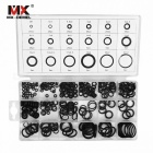 MX-DEMEL 225Pcs Air Conditioning HNBR O Rings Seal Nitrile Rubber Car Auto Repair Tool Kit, Air Conditioning Refrigerant Rings  BLACK