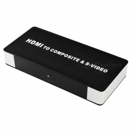 BSTUO HDMI to 3 RCA AV/Composite S-video Converter 1080P HD Video Converter Adaper - EU Plug