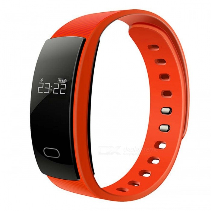 QS80 Smart Bracelet w/ Blood Pressure Heart Rate Monitor, Pedometer, Intelligent Reminder - OrangeSmart Bracelets<br>Form  ColorOrangeModelQS80Quantity1 DX.PCM.Model.AttributeModel.UnitMaterialTPU + ABSShade Of ColorOrangeWater-proofIP67Bluetooth VersionBluetooth V4.0Touch Screen TypeYesOperating SystemAndroid 4.3.1,Android 4.4,Android 4.4.1,Android 4.4.2,Android 4.1,Android 4.2,Android 4.3Compatible OSANDROID,iOSBattery Capacity70 DX.PCM.Model.AttributeModel.UnitBattery TypeLi-ion batteryStandby Time20 DX.PCM.Model.AttributeModel.UnitCertificationCEPacking List1 x Smart bracelet1 x Instruction1 x Charging Cable<br>