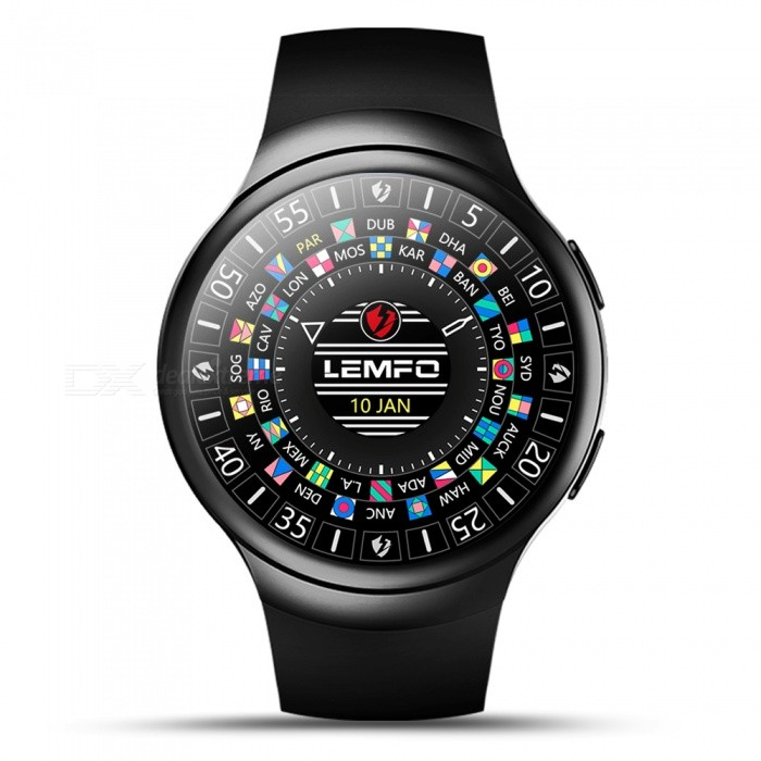 LEMFO LES2 3G 1.3 Smartwatch Phone with 1GB RAM, 16GB ROM - BlackSmart Watches<br>Form  ColorBlackModelLE S2Quantity1 DX.PCM.Model.AttributeModel.UnitShade Of ColorBlackCPU ProcessorMTK6580 1.3GHz Quad-CoreScreen Size1.3 DX.PCM.Model.AttributeModel.UnitScreen Resolution360*360Touch Screen TypeYesNetwork Type2G,3GCellularWCDMA,CDMA2000,GSMSIM Card TypeNano SIMBluetooth VersionBluetooth V4.0Operating SystemAndroid 5.1Compatible OSISOLanguageChinese, Indonesian, Malaysian, Czech, Danish, German, English, Spanish, French, Croatian, Italian,Dutch, Norwegian, Polish, Portuguese, Romanian, Slovenian, Finnish, Swedish, Turkish, Greek, Russian, Ukrainian, Hebrew, Thai, Korean, ArabicWristband Length23 DX.PCM.Model.AttributeModel.UnitWater-proofYesBattery ModeNon-removableBattery TypeLi-polymer batteryBattery Capacity450 DX.PCM.Model.AttributeModel.UnitStandby Time100 DX.PCM.Model.AttributeModel.UnitCertificationCEOther Features2G,3G,Alarm,Bluetooth,Browser,GPS,MP3,MP4,Wi-Fi; Functions: Heart rate measurement, PedometerPacking List1 x Watch1 x Battery: 450mAh built-in 1 x Charging Cable 1 x English Manual<br>