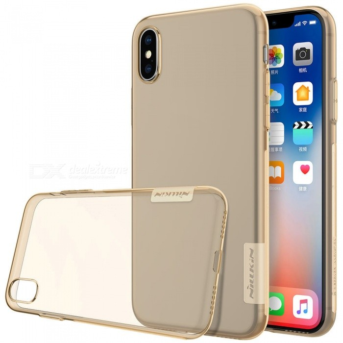 Nillkin Soft TPU Protective Cover Case for Apple IPHONE X - Brown ...