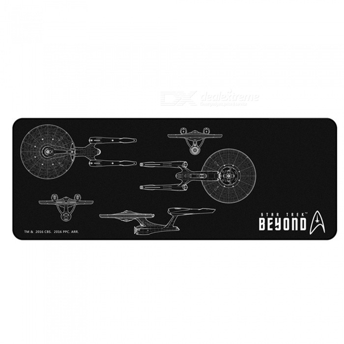 AJAZZ Super Star Trek Custom Edition Cool Mouse Pad Notebook Desk Tablet Pad - BlackMouse Pads<br>Form  ColorBlackQuantity1 DX.PCM.Model.AttributeModel.UnitShade Of ColorBlackMaterialClothForm  ColorBlackPacking List1 x Mouse Pad<br>