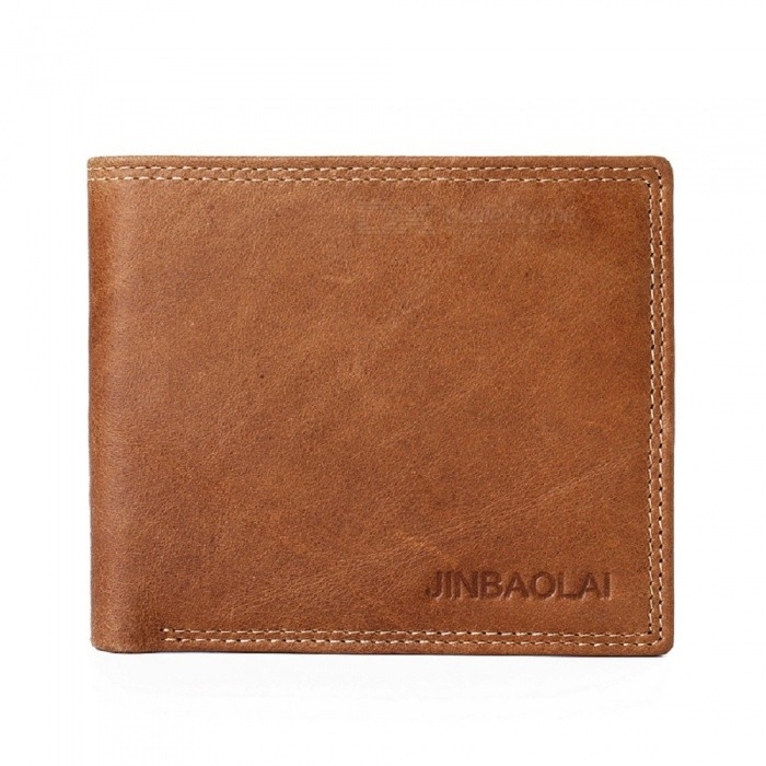 JIN BAO LAI Mens Stylish Folding Leather Wallet with Multiple Slots - CoffeeWallets and Purses<br>Form  ColorCoffeeModel368Quantity1 DX.PCM.Model.AttributeModel.UnitShade Of ColorBrownMaterialleatherGenderMenSuitable forAdultsOpeningCoverStyleFashionWallet Dimensions11*9.7*1.5cmPacking List1 x Wallet<br>