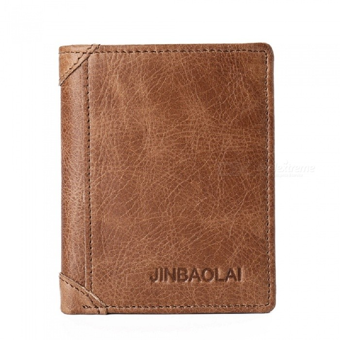 JIN BAO LAI Mens Stylish Folding Leather Card Holder Wallet - CoffeeWallets and Purses<br>Form  ColorCoffeeModel602Quantity1 pieceShade Of ColorBrownMaterialleatherGenderMenSuitable forAdultsStyleFashionWallet Dimensions10.5*8.5*1cmPacking List1 x Wallet<br>
