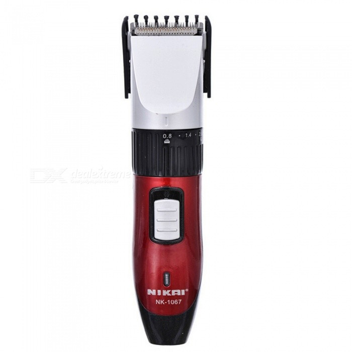 Professional Rechargeable Electric Hair Clipper Trimmer for Men - Red (EU Plug)Hair Trimmer Clipper<br>Form  ColorRedMaterialABSQuantity1 DX.PCM.Model.AttributeModel.UnitShade Of ColorRedMode SettingHaircutBlade Length3.5 DX.PCM.Model.AttributeModel.UnitTrimmer Head Size0.8-2 DX.PCM.Model.AttributeModel.UnitWorking Time8 DX.PCM.Model.AttributeModel.UnitCharging Time2 DX.PCM.Model.AttributeModel.UnitAdaptable Voltage220-240 DX.PCM.Model.AttributeModel.UnitPower SupplyAAPower AdapterEU PlugPower3 DX.PCM.Model.AttributeModel.UnitPacking List1 x Hair Clipper<br>