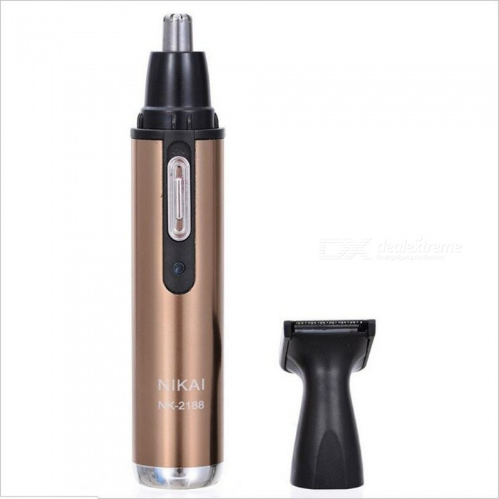 OJADE 2-in-1 Electric Nose Ear Hair Trimmer, Vibrissa Shaving Machine - Brown (EU Plug)Form  ColorBrownModel2188MaterialABSQuantity1 DX.PCM.Model.AttributeModel.UnitShade Of ColorBrownMode Setting2Blade Length2 DX.PCM.Model.AttributeModel.UnitTrimmer Head Size2 DX.PCM.Model.AttributeModel.UnitWorking Time0.5 DX.PCM.Model.AttributeModel.UnitCharging Time8 DX.PCM.Model.AttributeModel.UnitAdaptable Voltage110-240 DX.PCM.Model.AttributeModel.UnitPower AdapterEU PlugPower3 DX.PCM.Model.AttributeModel.UnitPacking List1 x Nose Hair Trimmer 1 x EU Plug Power Cord<br>