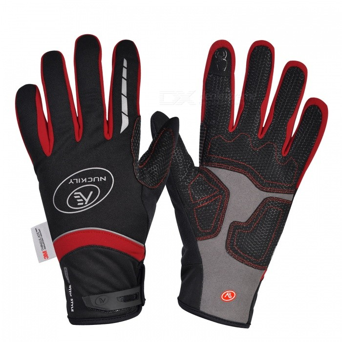 NUCKILY PD07 Unisex Winter Full Finger Cycling Touch Screen Gloves Warm Thickened Windproof Outdoor Sports Gloves - Red (XL)Gloves<br>Form  ColorRedSizeXLModelPD07Quantity1 DX.PCM.Model.AttributeModel.UnitMaterial50% polyester 30% Nylon 20% PUTypeFull-Finger GlovesSuitable forAdultsGenderUnisexPalm Girth11.5 DX.PCM.Model.AttributeModel.UnitGlove Length27 DX.PCM.Model.AttributeModel.UnitBest UseCycling,Mountain Cycling,Recreational Cycling,Road Cycling,Triathlon,Bike commuting &amp; touringPacking List1 x Pairs of gloves<br>