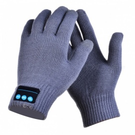CTSmart Warm Touch Screen Outdoor Gloves, Support Bluetooth Hands-Free Call - Gray (One Size)