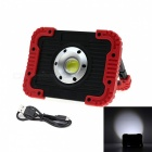 JRLED 10W Cold White Portable 5V USB Rechargeable 3-Mode Spotlight Emergency Lamp - Red Frame