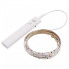 P-TOP 1m 30-LED 4*AAA Battery Powered PIR Motion Sensor Wardrobe Cabinet String Strip Light for Indoor Outdoor Home Decoration