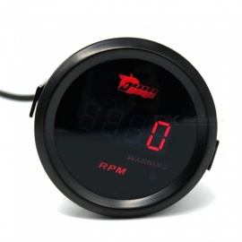 IZTOSS B2784 2 Inches / 52mm Mini Digital Tachometer Speedometer w/ Red Backlight