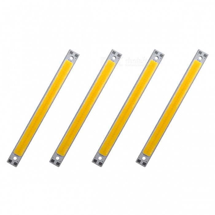 ZHAOYAO 120x10mm 10W DC 12-14V Dimmable COB LED Lights - Warm White (4 PCS)Form  ColorWhite + Silver Grey + Multi-ColoredColor BINWarm WhiteMaterialAluminumQuantity4 DX.PCM.Model.AttributeModel.UnitPower10 DX.PCM.Model.AttributeModel.UnitRate VoltageDC 12-14VWorking Current830 DX.PCM.Model.AttributeModel.UnitDimmableYesEmitter TypeCOBTotal Emitters1Beam Angle180 DX.PCM.Model.AttributeModel.UnitColor Temperature3000KActual Lumens0-1100 DX.PCM.Model.AttributeModel.UnitWavelength0Connector TypeOthers,WeldingOther Features2800-3500KPacking List4 x COB LED Lights<br>