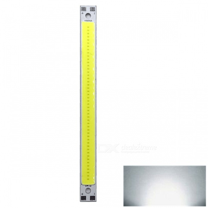 ZHAOYAO 120x10mm 10W DC 12-14V Dimmable COB LED Light - Cold White (1 PC)Form  ColorYellow + White + Multi-ColoredColor BINCold WhiteMaterialAluminumQuantity1 DX.PCM.Model.AttributeModel.UnitPower10 DX.PCM.Model.AttributeModel.UnitRate VoltageDC 12-14VWorking Current830 DX.PCM.Model.AttributeModel.UnitDimmableYesEmitter TypeCOBTotal Emitters1Beam Angle180 DX.PCM.Model.AttributeModel.UnitColor Temperature6000KActual Lumens0-1100 DX.PCM.Model.AttributeModel.UnitWavelength0Connector TypeOthers,WeldingOther Features5500-7000KPacking List1 x COB LED Light<br>