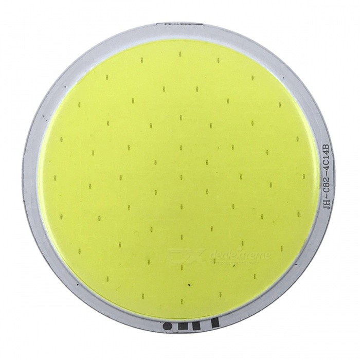 ZHAOYAO 82x82mm 7W DC 12-14V Dimmable COB LED Light - Cold WhiteLeds<br>Form  ColorYellow + Silver + Multi-ColoredColor BINCold WhiteMaterialAluminumQuantity1 setPower7 WRate VoltageDC 12-14VWorking Current500 mADimmableYesEmitter TypeCOBTotal Emitters1Beam Angle180 °Color Temperature12000K,Others,5500-7000KActual Lumens0-750 lumensConnector TypeOthers,WeldingPacking List1 x COB LED Light<br>