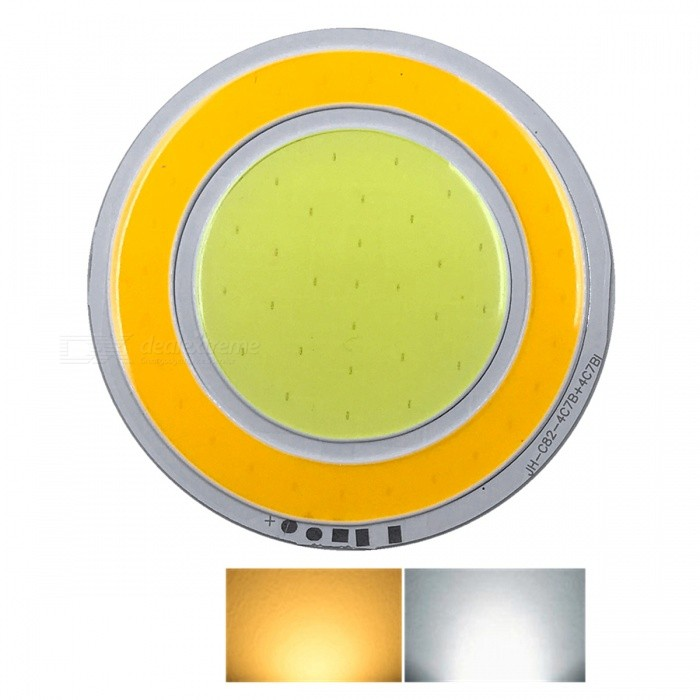ZHAOYAO 82x82mm 8W DC 12-14V Dimmable Double Color (White + Warm White) COB LED LightLeds<br>Form  ColorYellow + Silver + Multi-ColoredColor BINOthersMaterialAluminumQuantity1 piecePower8 WRate VoltageDC 12-14VWorking Current600 mADimmableYesEmitter TypeCOBTotal Emitters2Beam Angle180 °Color Temperature12000K,Others,2800-3500K; 5500-7000K;Actual Lumens0-850 lumensConnector TypeOthers,weldingPacking List1 x COB LED Light<br>