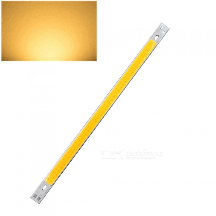 ZHAOYAO 200x10mm 10W DC 12-14V Dimmable COB LED Light - Warm WhiteForm  ColorYellow + White + Multi-ColoredColor BINWarm WhiteMaterialAluminumQuantity1 DX.PCM.Model.AttributeModel.UnitPower10 DX.PCM.Model.AttributeModel.UnitRate VoltageDC 12-14VWorking Current830 DX.PCM.Model.AttributeModel.UnitDimmableYesEmitter TypeCOBTotal Emitters1Beam Angle180 DX.PCM.Model.AttributeModel.UnitColor Temperature3000KActual Lumens0-1100 DX.PCM.Model.AttributeModel.UnitConnector TypeOthers,WeldingOther Features2800-3500KPacking List1 x COB LED Light<br>