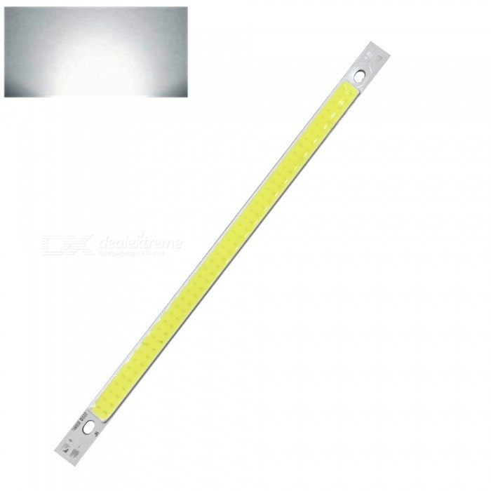 ZHAOYAO 200x10mm 10W DC 12-14V Dimmable COB LED Light - Cold WhiteLeds<br>Form  ColorYellow + White + Multi-ColoredColor BINCold WhiteMaterialAluminumQuantity1 piecePower10 WRate VoltageDC 12-14VWorking Current830 mADimmableYesEmitter TypeCOBTotal Emitters1Beam Angle180 °Color Temperature6000KActual Lumens0-1100 lumensConnector TypeOthers,WeldingOther Features5500-7000KPacking List1 x COB LED Light<br>