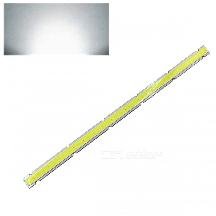 ZHAOYAO 250x12mm 20W DC 12-14V Dimmable COB LED Light - Cold WhiteForm  ColorYellow + White + Multi-ColoredColor BINCold WhiteMaterialAluminumQuantity1 piecePower20 WRate VoltageDC 12-14VWorking Current1.6 ADimmableYesEmitter TypeCOBTotal Emitters1Beam Angle180 °Color Temperature6000KActual Lumens0-2100 lumensConnector TypeOthers,WeldingOther Features5500-7000KPacking List1 x COB LED Light<br>