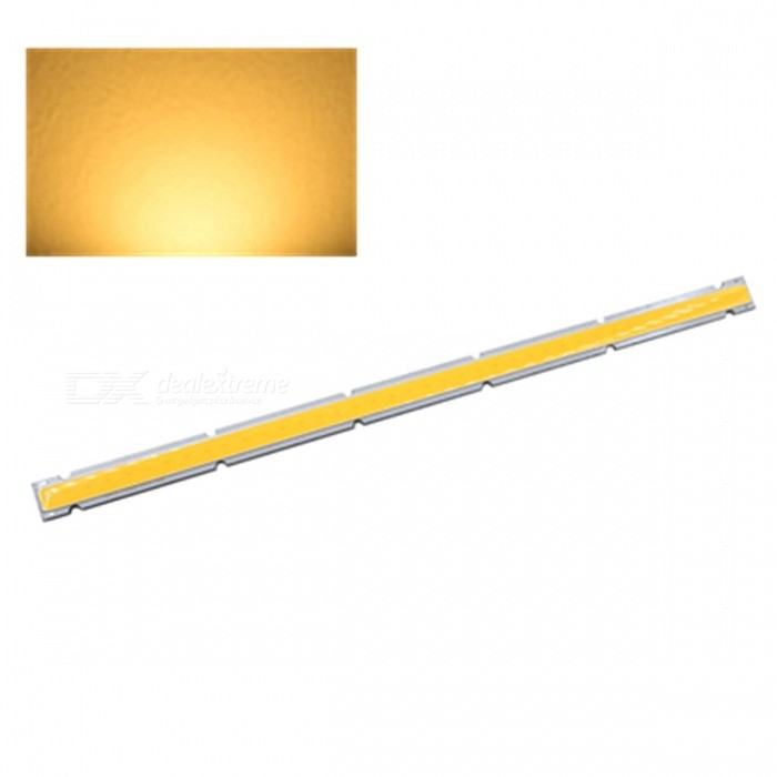 ZHAOYAO 250x12mm 20W DC 12-14V Dimmable COB LED Light - Warm WhiteForm  ColorYellow + White + Multi-ColoredColor BINWarm WhiteMaterialAluminumQuantity1 DX.PCM.Model.AttributeModel.UnitPower20 DX.PCM.Model.AttributeModel.UnitRate VoltageDC 12-14VWorking Current1.6 DX.PCM.Model.AttributeModel.UnitDimmableYesEmitter TypeCOBTotal Emitters1Beam Angle180 DX.PCM.Model.AttributeModel.UnitColor Temperature3000KActual Lumens0-2100 DX.PCM.Model.AttributeModel.UnitConnector TypeOthers,WeldingOther Features2800-3500KPacking List1 x COB LED Light<br>