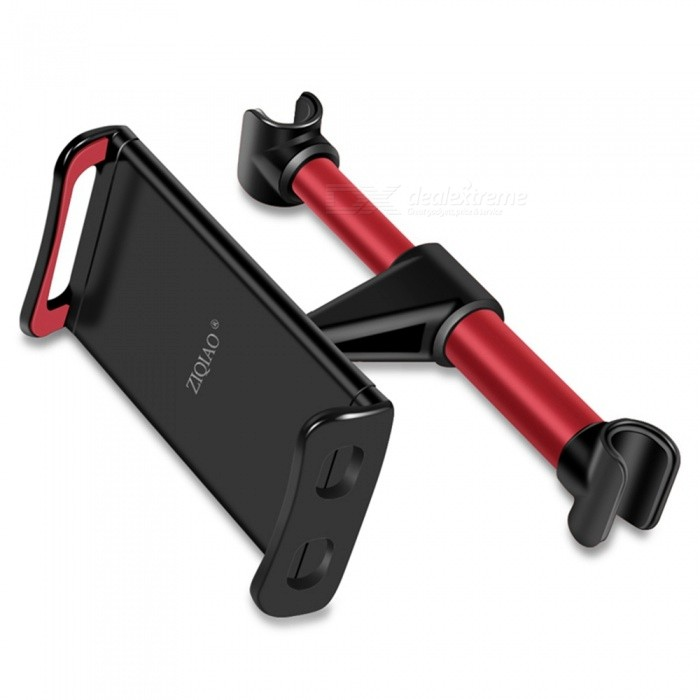 ZIQIAO 4-11 Inches Extendable Car Headrest Back Seat Tablet Phone Stand Mount Holder - RedGPS Holders<br>Form  ColorRedModelCZZJ- W009Quantity1 pieceMaterialABSApplicable ProductsIPHONE 5,IPHONE 4,IPHONE 4S,IPHONE 3G,IPAD,GPSAdjustable HeightN/AAdjustable Width:110~200mmRotation360 °Max. Load5 kgPacking List1 x Adjustable Car Seat Headrest Mount Holder<br>