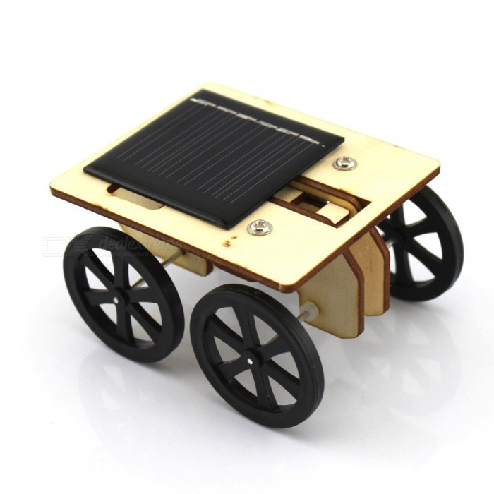 Creative DIY Solar Powered Wooden Toy CarEducational Toys<br>Form  ColorBlack + MulticolorMaterialWood + plasticQuantity1 DX.PCM.Model.AttributeModel.UnitSuitable Age 5-7 years,8-11 years,12-15 yearsPacking List1 x Set of DIY Solar Toy Car<br>