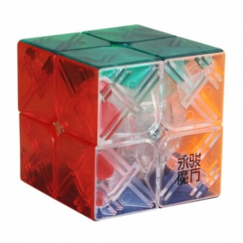 . YJ yupo 50mm 2x2x2 liscio speed magic cube puzzle per bambini, adulti - trasparente
