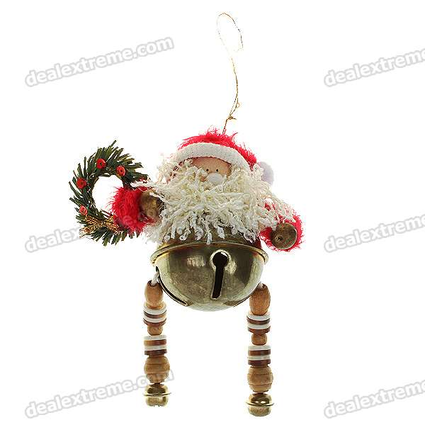 Christmas Decoration Gift - Father Christmas with Bells Strap (Red + White)