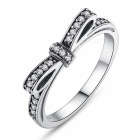 PA7104 Premium 100% 925 Sterling Silver Sparkling Bow Knot Stackable Finger Ring for Women Lady Girls PA7129/6