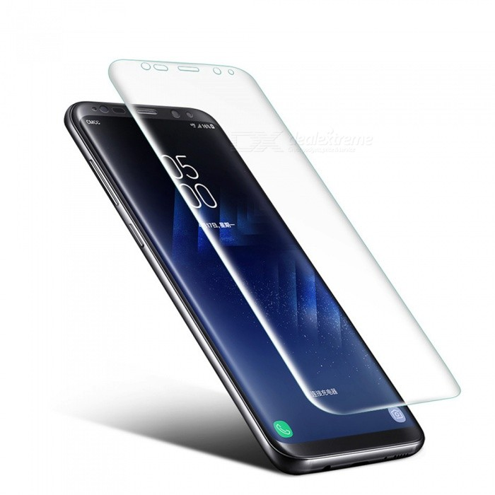 0.1mm Ultra-thin 3D Curved Edge PET Screen Film Guard Protector for Samsung Galaxy S8 PlusScreen Protectors<br>Form  ColorTransparentScreen TypeGlossyModelN/AMaterialPETQuantity1 setCompatible ModelsSamsung Galaxy S8 PlusFeatures3D,Scratch-proofPacking List1 x Screen Protector 1 x Wet wipe1 x Dry wipe1 x Dust sticker<br>