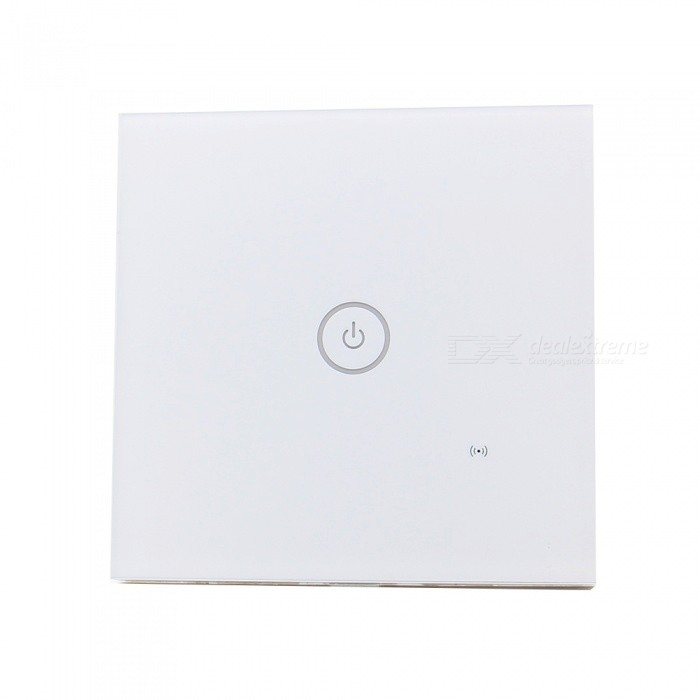 Geekworm AC 85V-250V 1-Gang 1-Way Wi-Fi 86 Type Smart Wall Touch Switch - EUHome Smart Devices<br>Form  Color1-Gang (EU)ModelEU-G2Quantity1 pieceMaterialFlame retardant materials + tempered glassPower1000 WRate VoltageAC85-250V, 50 / 60hzPower AdapterEU PlugPacking List1 x Smart Wall Switch<br>