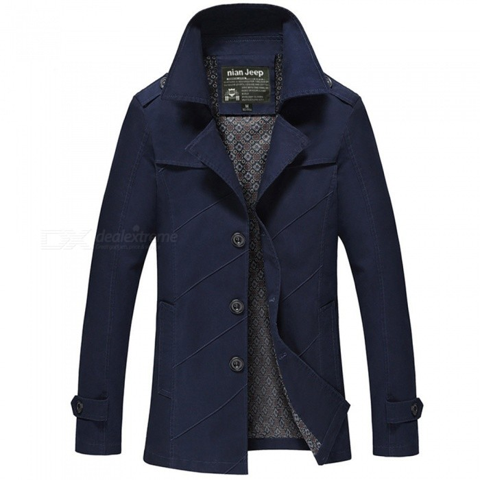1111 Mens Slim Outdoor Casual Fashion Jacket Coat - Blue (M)Jackets and Coats<br>Form  ColorBlueSizeMModel1111Quantity1 pieceShade Of ColorBlueMaterialCotton and polyesterStyleFashionTop FlyZipperShoulder Width44.6 cmChest Girth102 cmWaist Girth102 cmSleeve Length60 cmTotal Length71.5 cmSuitable for Height165 cmPacking List1 x Coat<br>