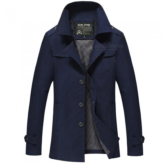 1111 Mens Slim Outdoor Casual Fashion Jacket Coat - Blue (L)Jackets and Coats<br>Form  ColorBlueSizeLModel1111Quantity1 DX.PCM.Model.AttributeModel.UnitShade Of ColorBlueMaterialCotton and polyesterStyleFashionTop FlyZipperShoulder Width46 DX.PCM.Model.AttributeModel.UnitChest Girth106 DX.PCM.Model.AttributeModel.UnitWaist Girth106 DX.PCM.Model.AttributeModel.UnitSleeve Length61.5 DX.PCM.Model.AttributeModel.UnitTotal Length73.5 DX.PCM.Model.AttributeModel.UnitSuitable for Height170 DX.PCM.Model.AttributeModel.UnitPacking List1 x Coat<br>