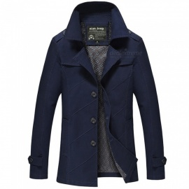 1111 Men's Slim Outdoor Casual Fashion Jacket Coat - Blue (L)