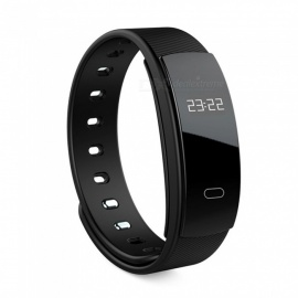 QS80 Smart Bracelet w/ Blood Pressure Heart Rate Monitor, Pedometer, Intelligent Reminder - Black