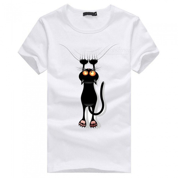 3D Paw Cat Pattern Fashion Personality Casual Cotton Short-Sleeved T-shirt for Men - White (L)Tees<br>Form  ColorWhiteSizeLQuantity1 pieceShade Of ColorWhiteMaterialCottonShoulder Width48 cmChest Girth96 cmSleeve Length19.5 cmTotal Length67 cmSuitable for Height170 cmPacking List1 x Short sleeve T-shirt<br>