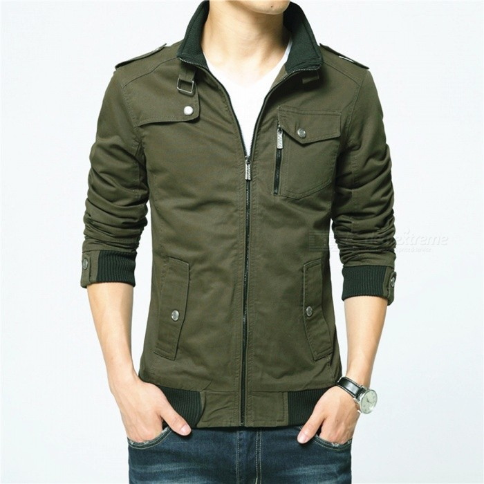 1616 Mens Slim Casual Fashion Jacket Coat - Green (3XL)Jackets and Coats<br>Form  ColorGreenSizeXXXLModel1616Quantity1 DX.PCM.Model.AttributeModel.UnitShade Of ColorGreenMaterialPolyester and cottonStyleFashionTop FlyZipperShoulder Width49 DX.PCM.Model.AttributeModel.UnitChest Girth120 DX.PCM.Model.AttributeModel.UnitWaist Girth95 DX.PCM.Model.AttributeModel.UnitSleeve Length68 DX.PCM.Model.AttributeModel.UnitTotal Length72 DX.PCM.Model.AttributeModel.UnitSuitable for Height183 DX.PCM.Model.AttributeModel.UnitPacking List1 x Coat<br>