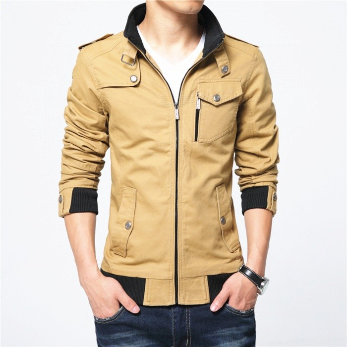 1616 Mens Slim Casual Fashion Jacket Coat - Khaki (2XL)Jackets and Coats<br>Form  ColorKhakiSizeXXLModel1616Quantity1 DX.PCM.Model.AttributeModel.UnitShade Of ColorBrownMaterialPolyester and cottonStyleFashionTop FlyZipperShoulder Width47.5 DX.PCM.Model.AttributeModel.UnitChest Girth118 DX.PCM.Model.AttributeModel.UnitWaist Girth92 DX.PCM.Model.AttributeModel.UnitSleeve Length66.5 DX.PCM.Model.AttributeModel.UnitTotal Length70 DX.PCM.Model.AttributeModel.UnitSuitable for Height180 DX.PCM.Model.AttributeModel.UnitPacking List1 x Coat<br>