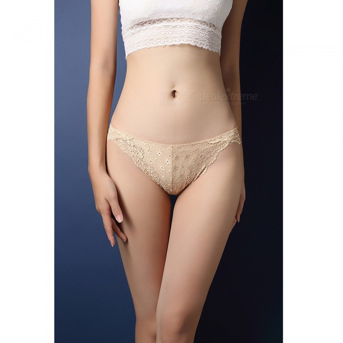 Sexy Translucent Lace T-back Underwear for Women - Apricot ColorSexy Lingerie<br>Form  ColorApricotSizeFree SizeModelZJ003004Quantity1 pieceShade Of ColorYellowMaterialNylonStyleLace LingerieShoulder Width0 cmChest Girth0 cmWaist Girth0 cmTotal Length0 cmHip Girth0 cmForm  ColorApricotSizeFree SizePacking List1 x Underwear<br>