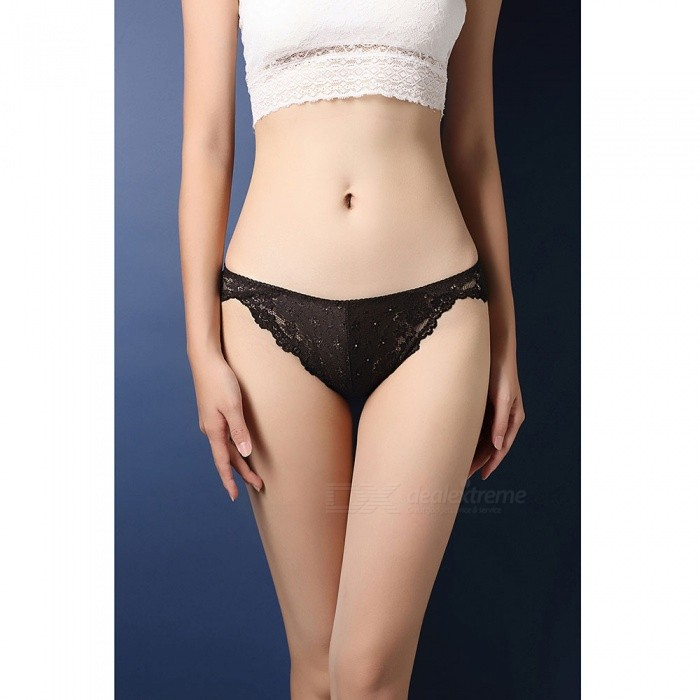 Sexy Translucent Lace T-back Underwear for Women - BlackSexy Lingerie<br>Form  ColorBlackSizeFree SizeModelZJ003004Quantity1 DX.PCM.Model.AttributeModel.UnitShade Of ColorBlackMaterialNylonStyleLace LingerieShoulder Width0 DX.PCM.Model.AttributeModel.UnitChest Girth0 DX.PCM.Model.AttributeModel.UnitWaist Girth0 DX.PCM.Model.AttributeModel.UnitTotal Length0 DX.PCM.Model.AttributeModel.UnitHip Girth0 DX.PCM.Model.AttributeModel.UnitForm  ColorBlackSizeFree SizePacking List1 x Underwear<br>
