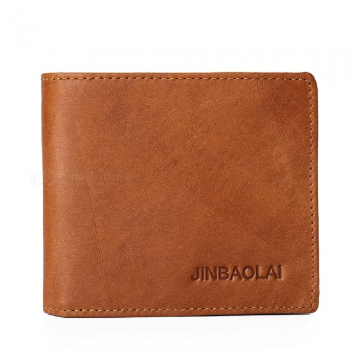 JIN BAO LAI Mens Stylish Folding Leather Card Holder Wallet - CoffeeWallets and Purses<br>Form  ColorCoffeeModel603-1-2#Quantity1 DX.PCM.Model.AttributeModel.UnitShade Of ColorBrownMaterialLeatherGenderMenSuitable forAdultsOpeningCoverStyleFashionWallet Dimensions11*9.5*2cmPacking List1 x Wallet<br>