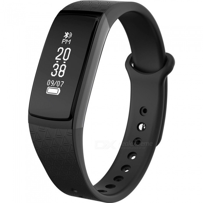 B13 Smart Bracelet w/ Activity Tracker, Long Standby Time, Pedometer, Heart Rate Monitor for IOS - BlackSmart Bracelets<br>Form  ColorBlackModelB13Quantity1 DX.PCM.Model.AttributeModel.UnitMaterialTPUShade Of ColorBlackWater-proofIP67Bluetooth VersionBluetooth V4.0Touch Screen TypeOthers,OLEDOperating SystemAndroid 4.4,iOSCompatible OSAndroid IOSBattery Capacity45 DX.PCM.Model.AttributeModel.UnitBattery TypeLi-ion batteryStandby Time20 DX.PCM.Model.AttributeModel.UnitPacking List1 x Smart Bracelet1 x User handbook1 x Charger<br>