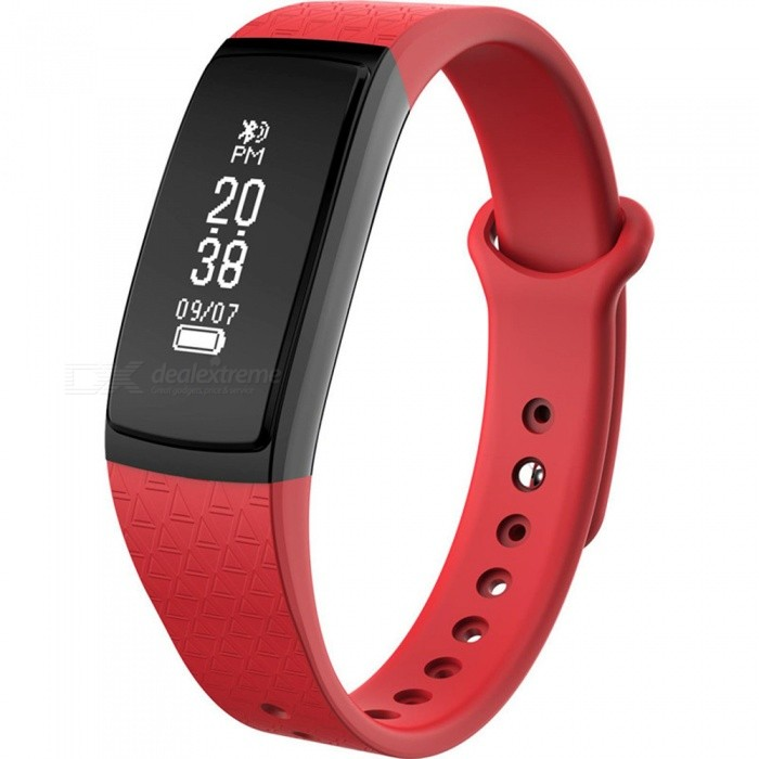 B13 Smart Bracelet w/ Activity Tracker, Long Standby Time, Pedometer, Heart Rate Monitor for IOS - RedSmart Bracelets<br>Form  ColorRedModelB13Quantity1 DX.PCM.Model.AttributeModel.UnitMaterialTPUShade Of ColorRedWater-proofIP67Bluetooth VersionBluetooth V4.0Touch Screen TypeOthers,OLEDOperating SystemAndroid 4.4,iOSCompatible OSAndroid IOSBattery Capacity45 DX.PCM.Model.AttributeModel.UnitBattery TypeLi-ion batteryStandby Time20 DX.PCM.Model.AttributeModel.UnitPacking List1 x Smart Bracelet1 x User handbook1 x Charger<br>