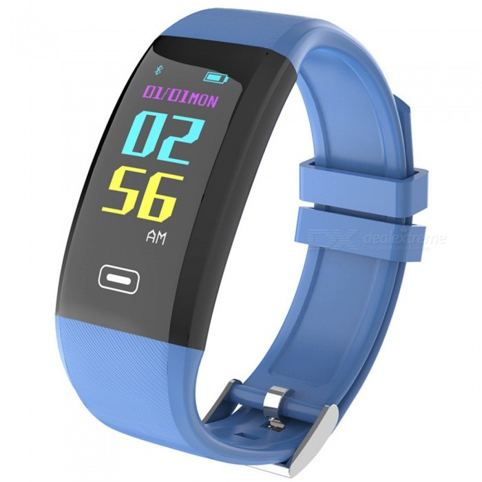 X4PLUS Color Screen Smart Bracelet w/ Pedometer, Heart Rate Monitor, Activity Tracker, App Control - BlueSmart Bracelets<br>Form  ColorBlueModelX4PLUSQuantity1 pieceMaterialSilica gelShade Of ColorBlueWater-proofIP67Bluetooth VersionBluetooth V4.0Touch Screen TypeOthers,OLEDOperating SystemAndroid 4.4,iOSCompatible OSAndroid IOSBattery Capacity80 mAhBattery TypeLi-ion batteryStandby Time8 daysPacking List1 x Smart Bracelet1 x User handbook1 x Charger<br>